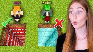 NIE WYBIERZ ZŁEJ DZIURY z Palionem w Minecraft!