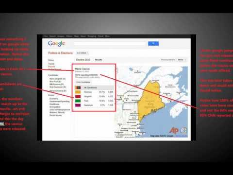 Google Admits Voter Fraud in 2012 Maine GOP Caucus 2/11/12