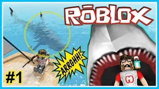 MAMAM OR DIMAMAM SHARKS!! -SHARK BITE #1-ROBLOX INDONESIA
