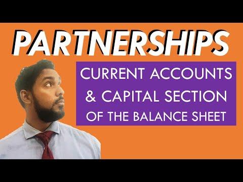 Partnerships | Current Accounts | Balance Sheet Capital Section | Balance Sheet Equity Section