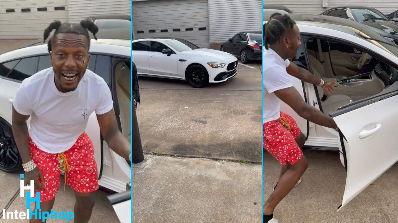 """Sauce Walka shows of his new Custom 2021 Mercedes Benz AMG GT """"it's going down"""" 👀"""