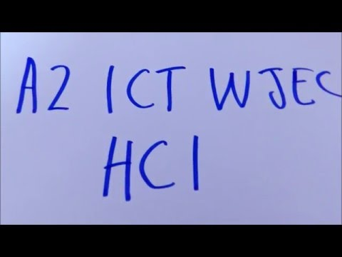 HCI - A2 ICT WJEC Revision