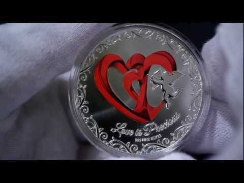 "2013 Niue Island $2  "" Love is Precious ""  Silver Coin"