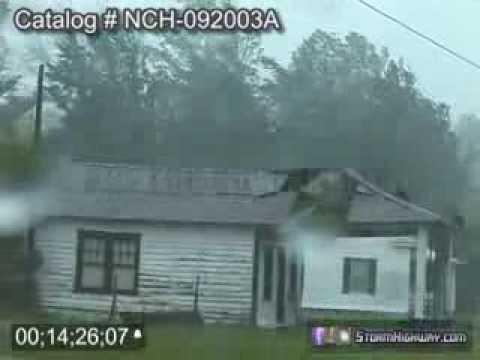 Hurricane Isabel landfall in North Carolina - September 20, 2003