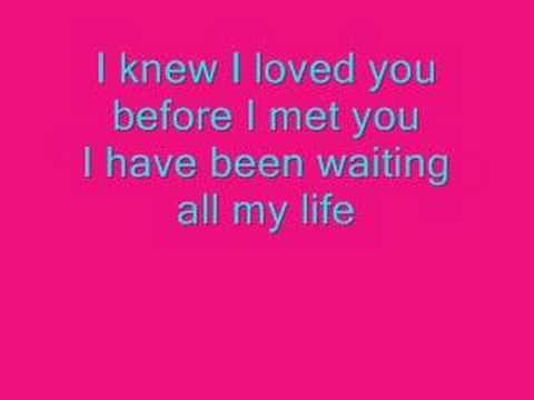 Savage Garden I knew I loved you lyrics.