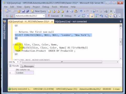 SQL Server ISNULL() & COALESCE() Functions