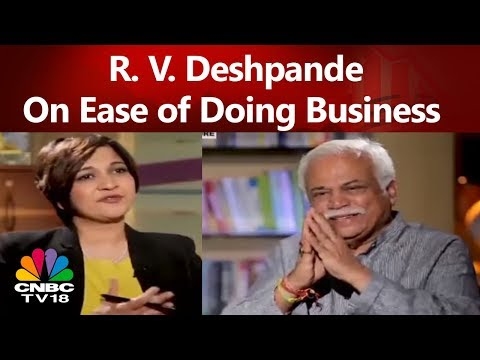 Nava Karnataka | Minister R. V. Deshpande On Ease of Doing Business in Karnataka | CNBC TV18