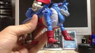 Digimon Data Squad Digivolving Gaogamon to MAchGaogamon Rev