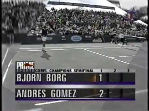 Bjorn Borg vs Andres Gomez 1995 Woodmont country club