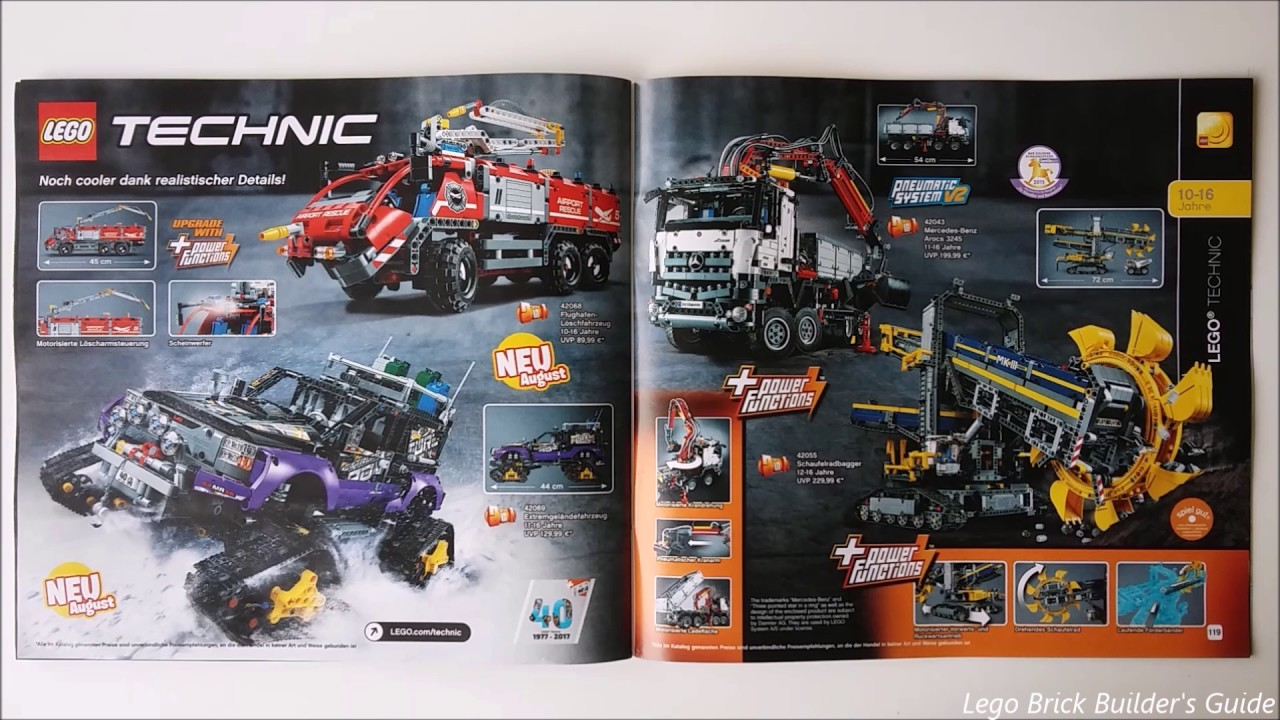 lego catalog 2 hy 2017 only lego technic youtube. Black Bedroom Furniture Sets. Home Design Ideas