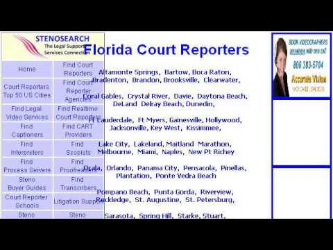 Court Reporting In Jacksonville Florida