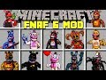 Minecraft FNAF 6 MOD / SURVIVE FNAF SECRET CUSTOM NIGHT WITH MONSTERS! / Modded Mini-Game
