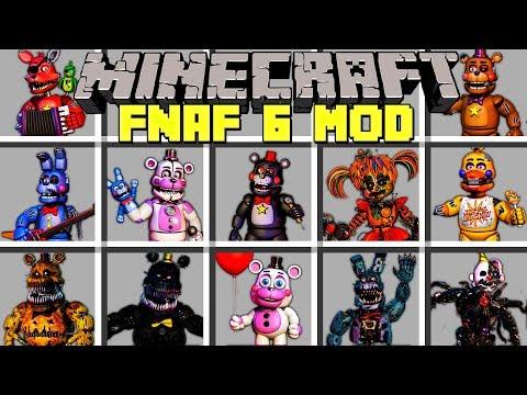 Minecraft FNAF 6 MOD / SURVIVE FNAF SECRET CUSTOM NIGHT WITH MONSTERS! / Modded Mini-Game
