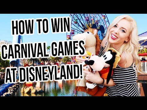 How to Win Disneyland Carnival Games!