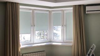 Кассетные рулонные шторы Витэо и Витэо плюс День-ночь. Обзор. Как замерить окно. Расчет