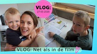Mama als juf - Een schooldag bij ons thuis (27 maart 2020 - daanliesenkids)