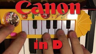 CANON IN D but it's played on a $1 piano