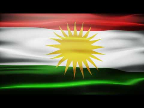 Southern Kurdistan Waving Flag Royalty Free Footage