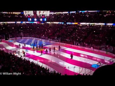 Jim Cornelison Singing National Anthem During Blackhawks game - 12/20/2015