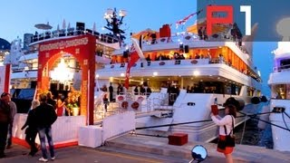 EXCLUSIVE F1 party on biggest yacht in Monaco