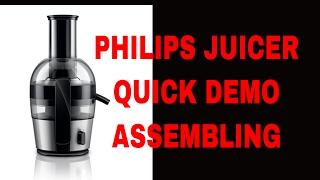 Philips Viva Quick Clean HR1863 Juicer Quick DEMO & ASSEMBLING