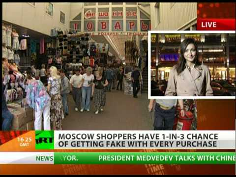A third of all brand-name goods in Moscow could actually be fakes.