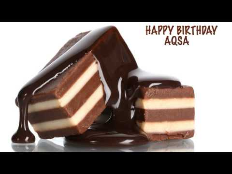Aqsa  Chocolate - Happy Birthday