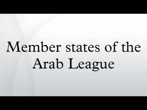 Member states of the Arab League