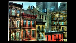 Old New York City buildings on Church St by Tribeca Grand Hotel in NYC - JoeyBLS Media