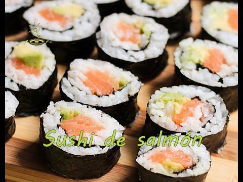 Sushi de salmón (fácil y rápido)