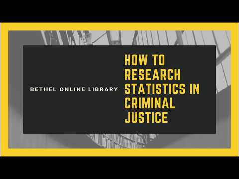 Research 101: Criminal Justice & Statistics