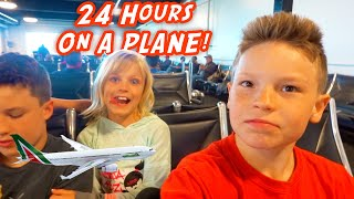 Download Lagu 24 hours on a Plane! Ninja Kidz are going to Africa! mp3