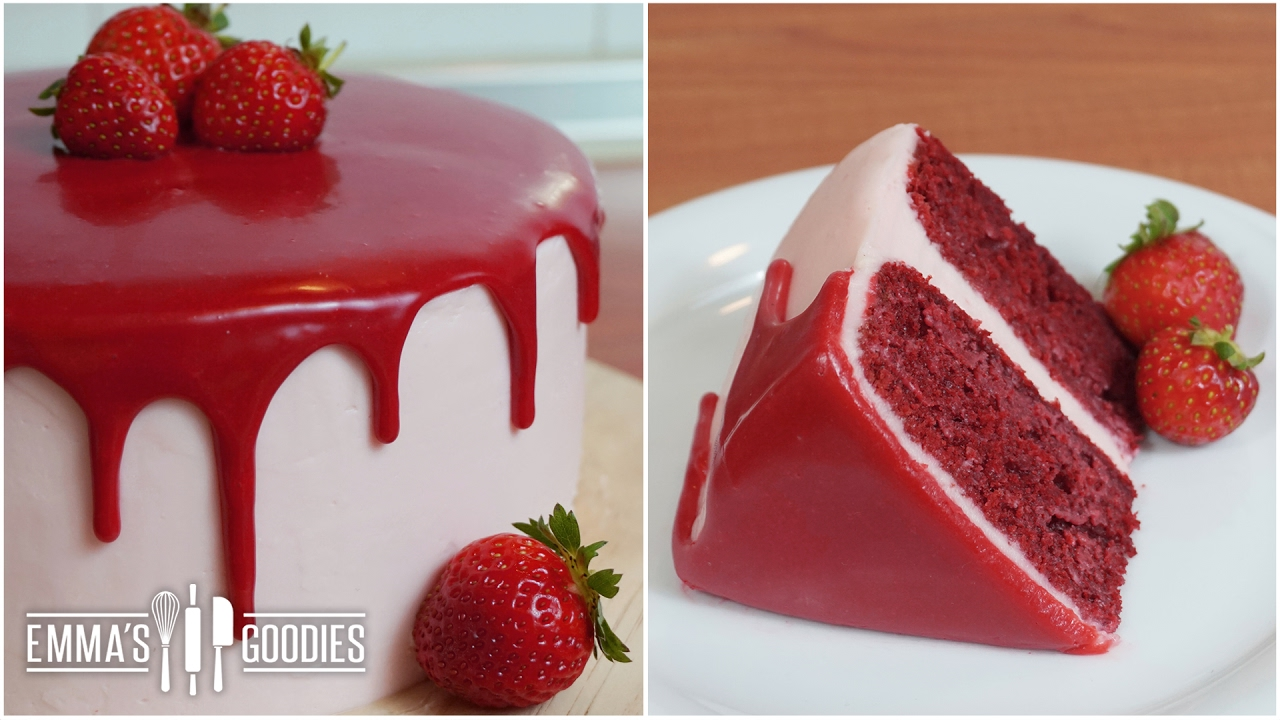 Red Velvet Cake Recipe With Cream Cheese Frosting Drip