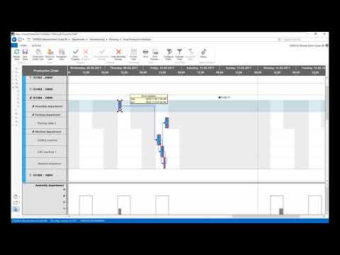 Microsoft Dynamics NAV: Visual Scheduling (Production, Jobs, Services)