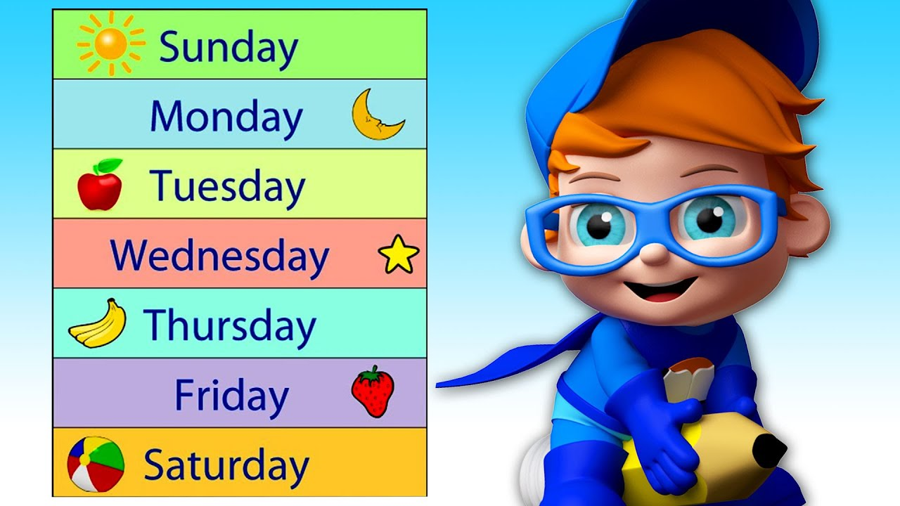 Learn Days, Weeks and Months In A Fun Way With Jake Jotter   Educational Videos For Toddlers & Kids