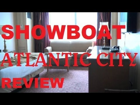 Atlantic City; Showboat hotel casino review walk through (Premium Room 2205)