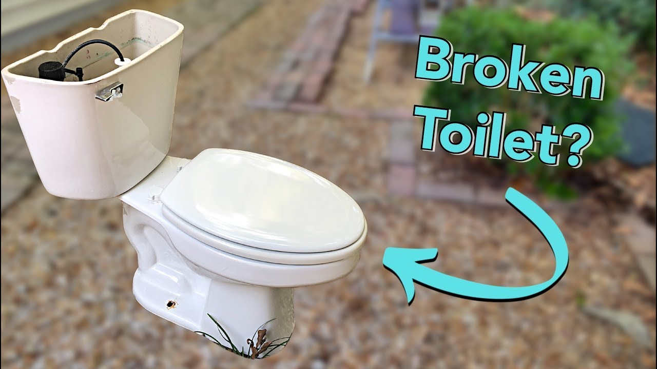 Mini Bathroom Makeover with New Toilet Install