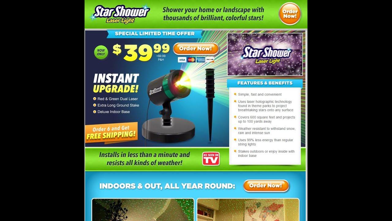Star Shower | Star Shower As Seen On Tv - YouTube
