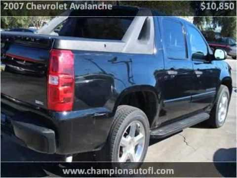 2007 Chevrolet Avalanche Used Cars Tallahassee Fl FL