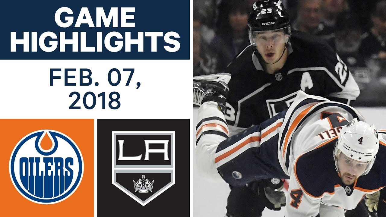 NHL Game Highlights   Oilers vs. Kings - Feb. 7, 2018 - YouTube