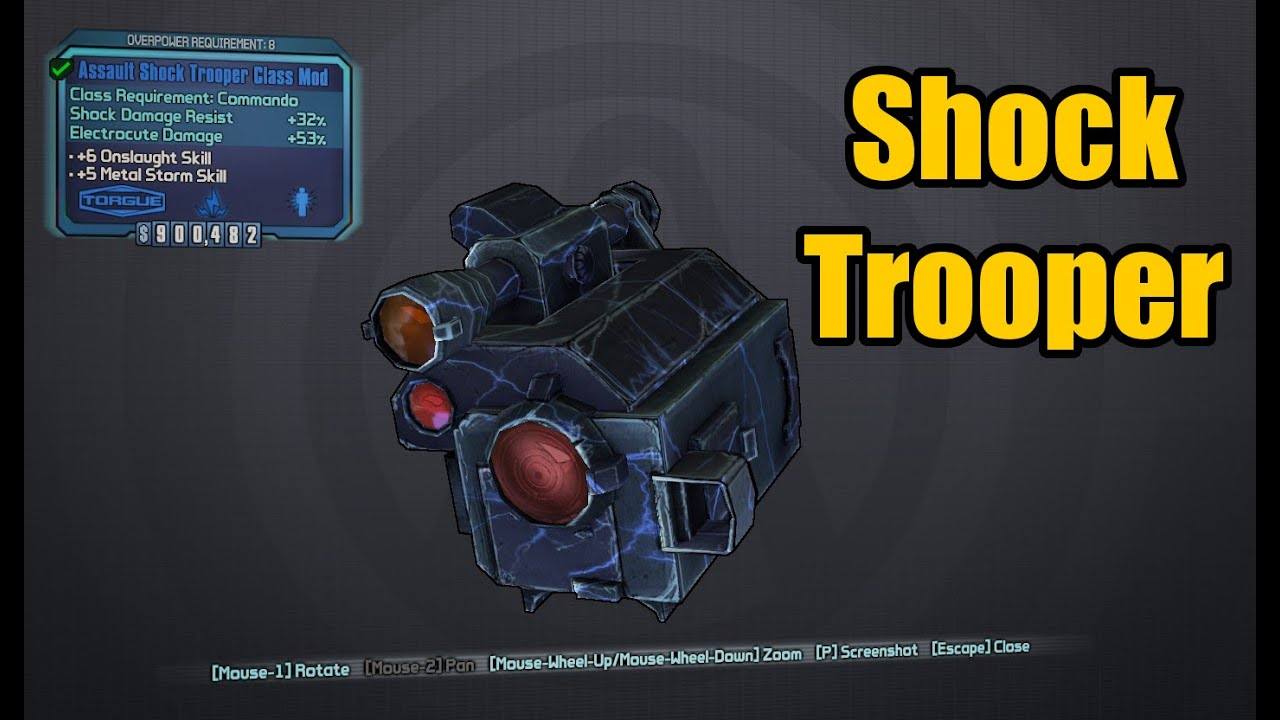 Borderlands 2: Axton's Shock Trooper Class Mod