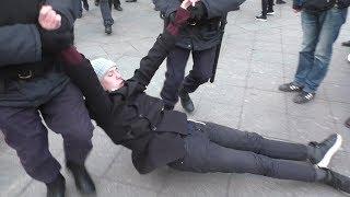 Задержание участников акции #бессрочка в поддержку политзеков