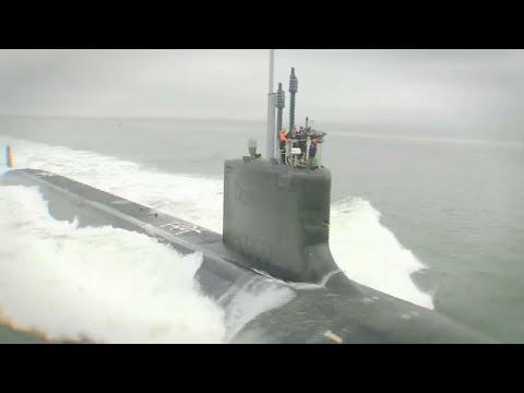 Huntington Ingalls - USS Indiana (SSN 789) Fast Attack Submarine Sea Trials [720p]