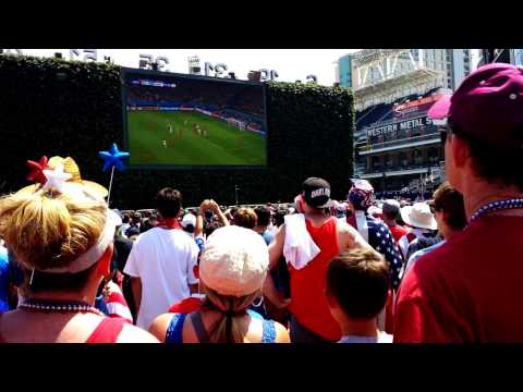 USA v. Belgium 2014 World Cup Wondo Missed Goal Crowd Reaction