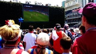usa v belgium 2014 world cup wondo missed goal crowd reaction