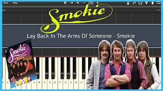 Lay Back In The Arms Of Someone - Smokie (Synthesia) [Tutorial] [Instrumental Video] [Download]
