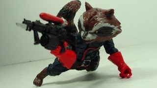 Marvel Legends BAF Rocket Raccoon Figure Review