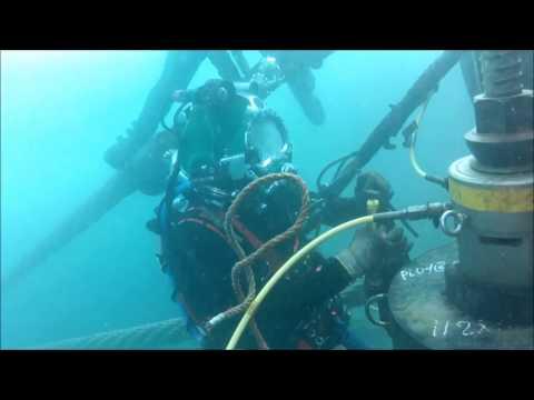 Costa Concordia VideoRay ROV Footage - Diver Supervision