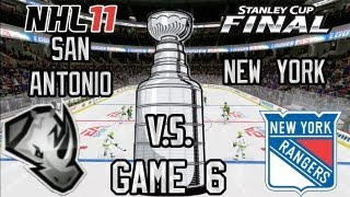 NHL 11 Stanley Cup Playoffs: Rangers @ Renegades R4G6