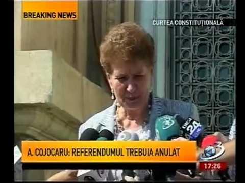 Aspazia Cojocaru  Referendumul trebuia anulat pentru ca s a bazat pe date false